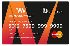 prepaid card multicolor the mobile wallet prepaid card of rbl bank rs 99 unit