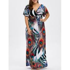 peacock plus size dress cheap casual style online free shipping at