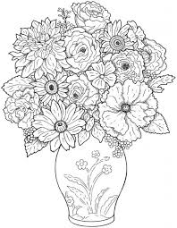 20 free printable detailed flowers coloring pages adults