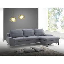 mistergooddeal canapé canapé d angle à droite tissu gris corner sur mistergooddeal com