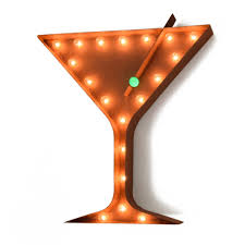 martini bar sign martini vintage marquee lights sign rustic marquee lights