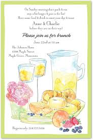 invitation to brunch wording day after brunch watercolor invitations myexpression 8186