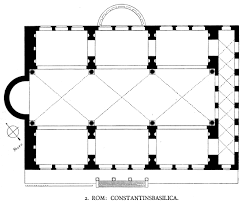 baths of caracalla floor plan floor plan of the basilica of maxentius and constantine early