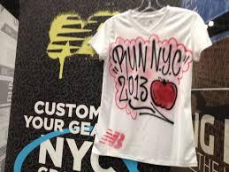 custom spray paint shirts photos scenes from the nyc marathon expo competitor com