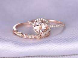 Rose Gold Wedding Rings For Women by Wedding Rings Rose Gold Morganite Engagement Rings Rose Gold