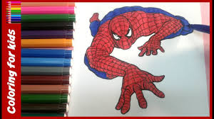 colouring pages for kids how to colour spiderman colouring pages