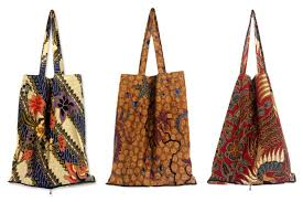 batik cotton shopping tote bags set of 3 jawadwipa legacy novica