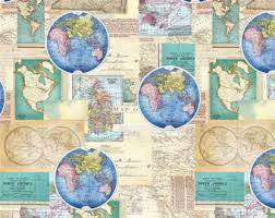africa map fabric world map fabric etsy