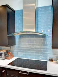 sink faucet blue tile backsplash kitchen laminate subway ceramic