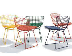 Bertoia Dining Chair The Innovative Bertoia Side Chair With Seat Cushion