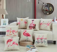 canape flamant décoratif imprimé linge danse oiseaux flamant literie