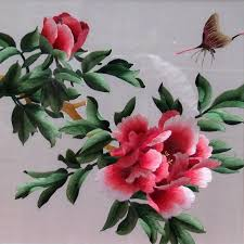 red peony embroidery chinese embroidery pictures travel photos