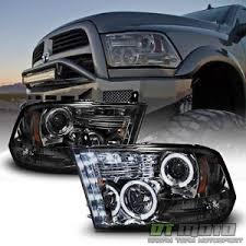 halo headlights for dodge ram 1500 smoke 2009 2017 dodge ram 1500 2500 3500 halo led projector