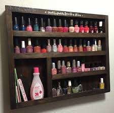 Simple Wood Storage Shelf Plans by Diy Wood Nail Polish Rack U2013 Free Plans Nail Polish Storage