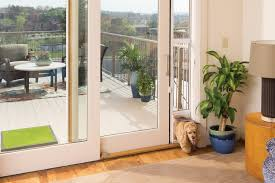Patio Door With Pet Door Built In Security In Glass Pet Door Solutions For Doors