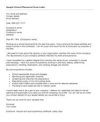 pharmacist cover letter examples