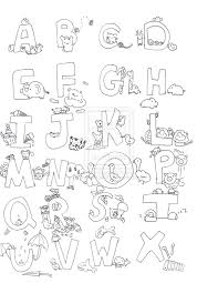 printable coloring pages alphabet coloring pages free