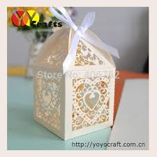 wedding souvenir heart laser cut cupcake boxes wedding rustic wedding gifts for