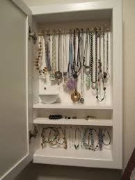 Jewellery Organiser Cabinet My Diy Wall Mounted Jewelry Box Frugal