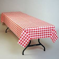 gingham plastic tablecloth 100 foot roll home