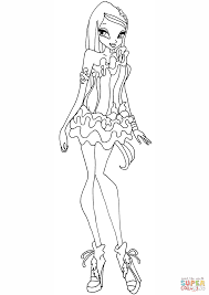 winx club crystal coloring page free printable coloring pages