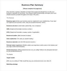 sample business action plan u2013 11 example format