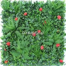 red elegance vertical garden plants wall panel dongyi