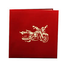 3d motorcycle model funny 3d paper laser cut greeting cards