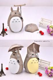 kawaii cartoon my neighbor totoro lamp led night light abs reading