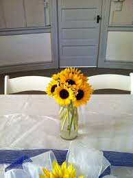 sunflower centerpieces creative idea diy sunflowers centerpiece on white table near
