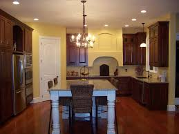Yellow Kitchen Walls With Oak Cabinets by Kitchen Beauteous Image Of Small Kitchen Decoration Using Dark