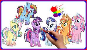my little pony color book mlp mane six universe ponified my little pony coloring book