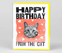 steam whistle letterpress happy birthday from the cat at