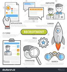cv search recruitment concept cv form application stock vector