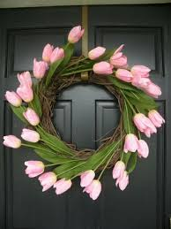 tulip wreath wreath idea box by jeanine easter wreaths and