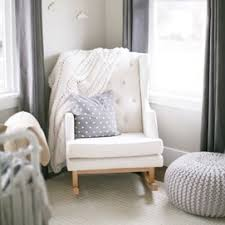 White Rocking Chair Nursery Nursery Gliders Upholstered Rocking Chairs Rosenberry Rooms