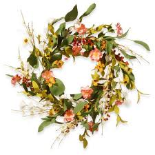 flower wreath artificial flower wreath pink 22 national tree company