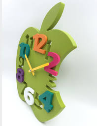 wondrous apple wall clock 12 country apple basket kitchen wall