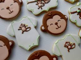 baby shower monkey monkey baby shower cookies cookie connection