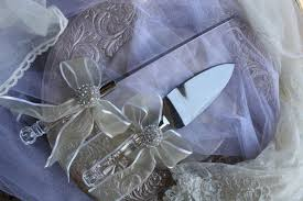 wedding cake server and knife set crystal handle cake server and