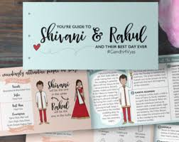 hindu wedding program etsy your place to buy and sell all things handmade