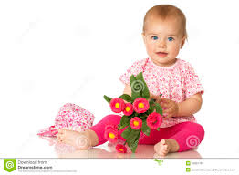 baby flowers sweet baby with flowers stock photos image 25601763