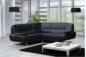 canap d angle r versible canapé moderne simili cuir réversible gris noir chocolat