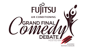 fujitsu logo general grand final comedy debate