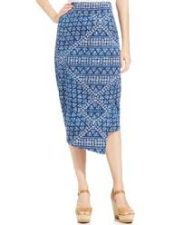 dkny jeans batik print faux wrap midi skirt skirts women macy u0027s