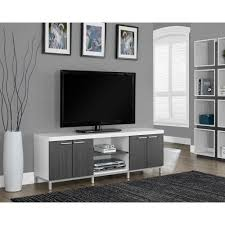 monarch specialties hollow core white and grey storage