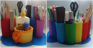 How To Make Diy Toilet Paper Roll Desk Organizer How To Instructions