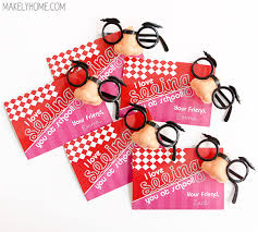 school valentines free printable glasses valentines