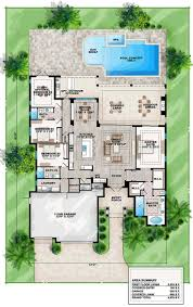 courtyard pool home plans house designs soiaya