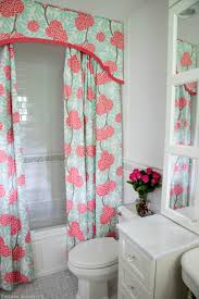 Pink And Teal Curtains Decorating Decoration Ideas Cool Green And Pink Pattern Valance And One